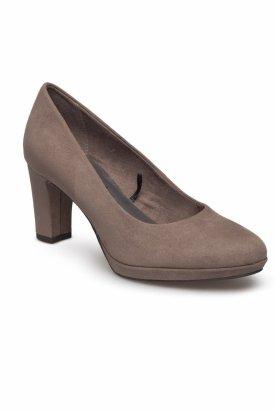 Pantofi cu toc, Tamaris, Maro deschis, 37 EU