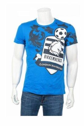 Tricou, Bikkembergs football, Albastru, XL EU