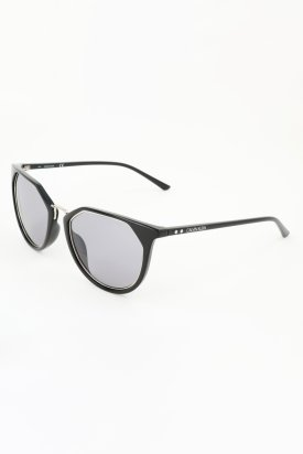 Calvin Klein, Ochelari de soare cat-eye cu brate inguste, Negru, 54-21-140 Standard