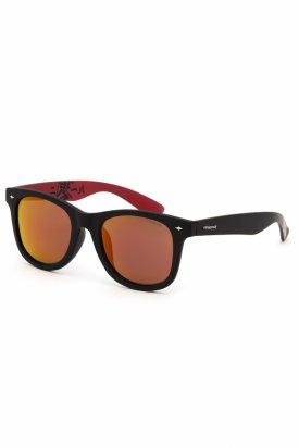 Ochelari de soare , Polaroid, Negru/Portocaliu, PLD 6009/FS, 100% UV