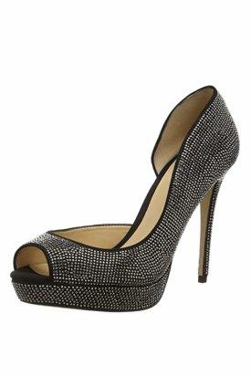 Pantofi cu toc, Aldo Lilacia, Negru/Argintiu, 39 EU