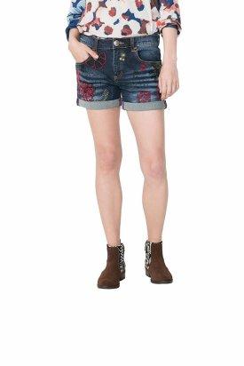 Pantaloni dama, Desigual 67D26A0 /5008, Albastru, 24 EU
