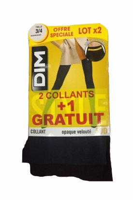 2 Colanti + 1 gratuit, Dim, Albastru/Negru, 44 EU