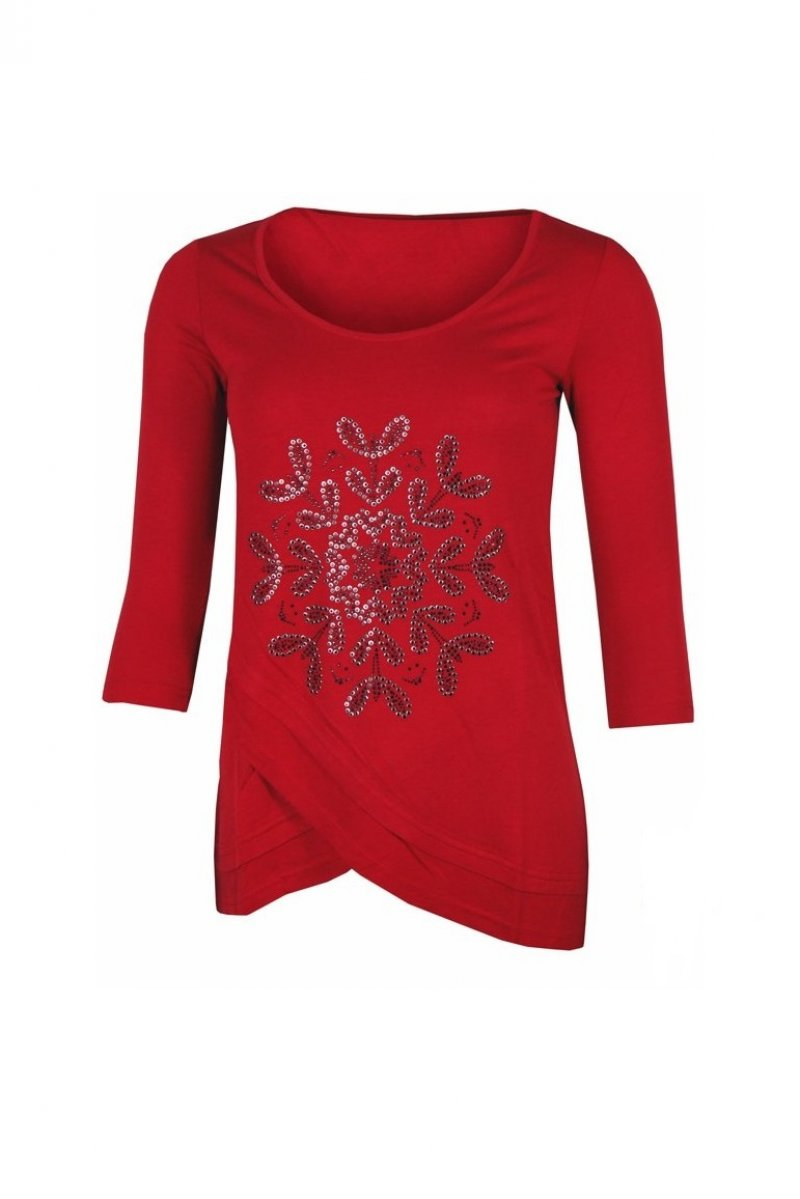 Bluza dama, Desigual, Rosu granat, XL