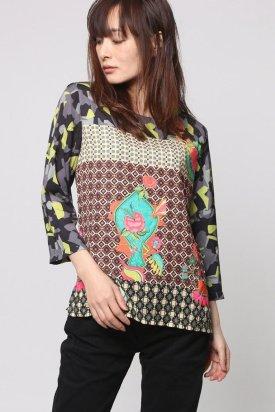Bluza dama, Desigual 67B23A6 / 4128, Multicolor, XS