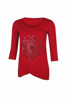 Bluza dama, Desigual, Rosu granat, S