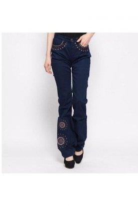 Pantalon dama, Desigual, Albastru, 24 EU