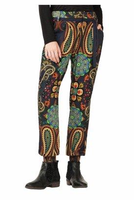 Pantaloni dama, Desigual, Multicolor, 32 EU