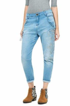 Pantaloni dama, Desigual, Albastru deschis, 26 EU