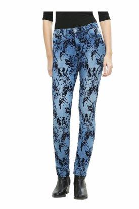 Pantaloni dama, Desigual, Albastru, 29 EU