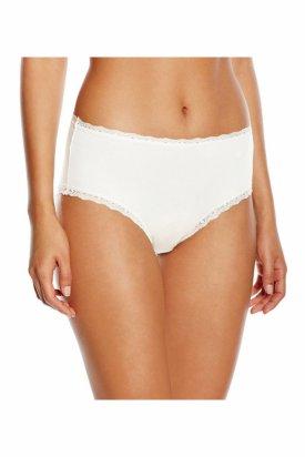 Lenjerie intima dama, Triumph Cotton Feel Basics Decor Maxi, Alb, 48 EU
