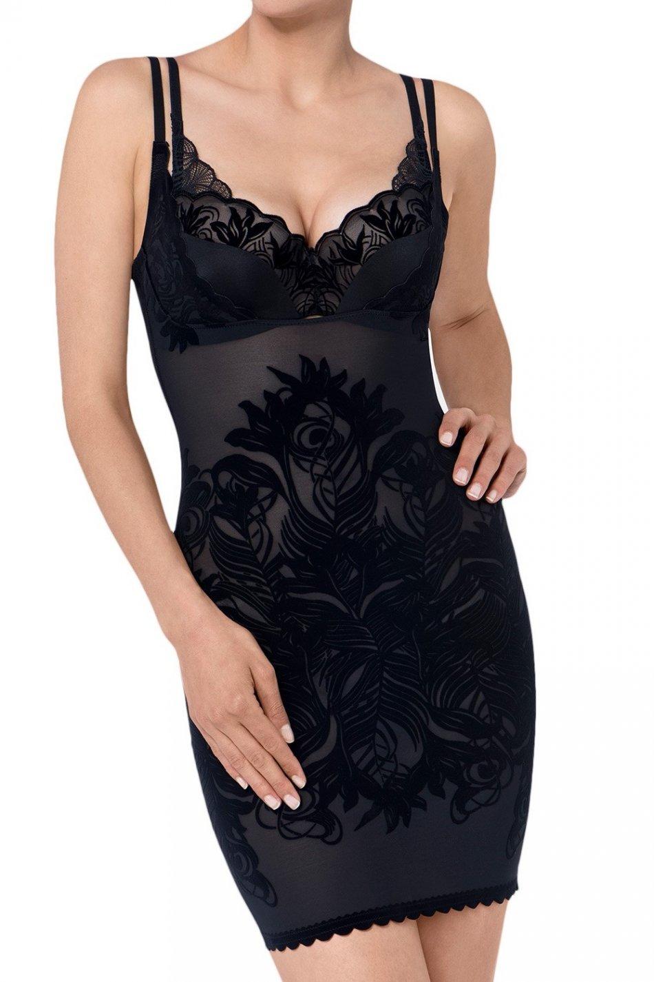 Lenjerie intima, Triumph Magic Boost Velvet Dress, Negru, XL