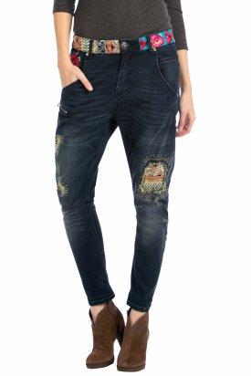 Pantaloni dama, Desigual 57D26C3 / 5008, Albastru, 24 EU