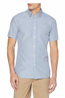 Camasa cu maneca scurta, Selected Homme, Albastru, XL EU