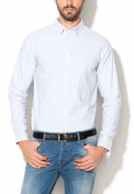 Selected Homme Camasa slim fit albastru cu alb in dungi Vince M