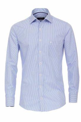 Camasa maneca lunga, Van Laack albastru cu alb in dungi, 45 EU