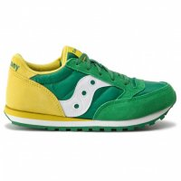 Pantofi sport cu garnituri de piele intoarsa Jazz Original verde, galben 38