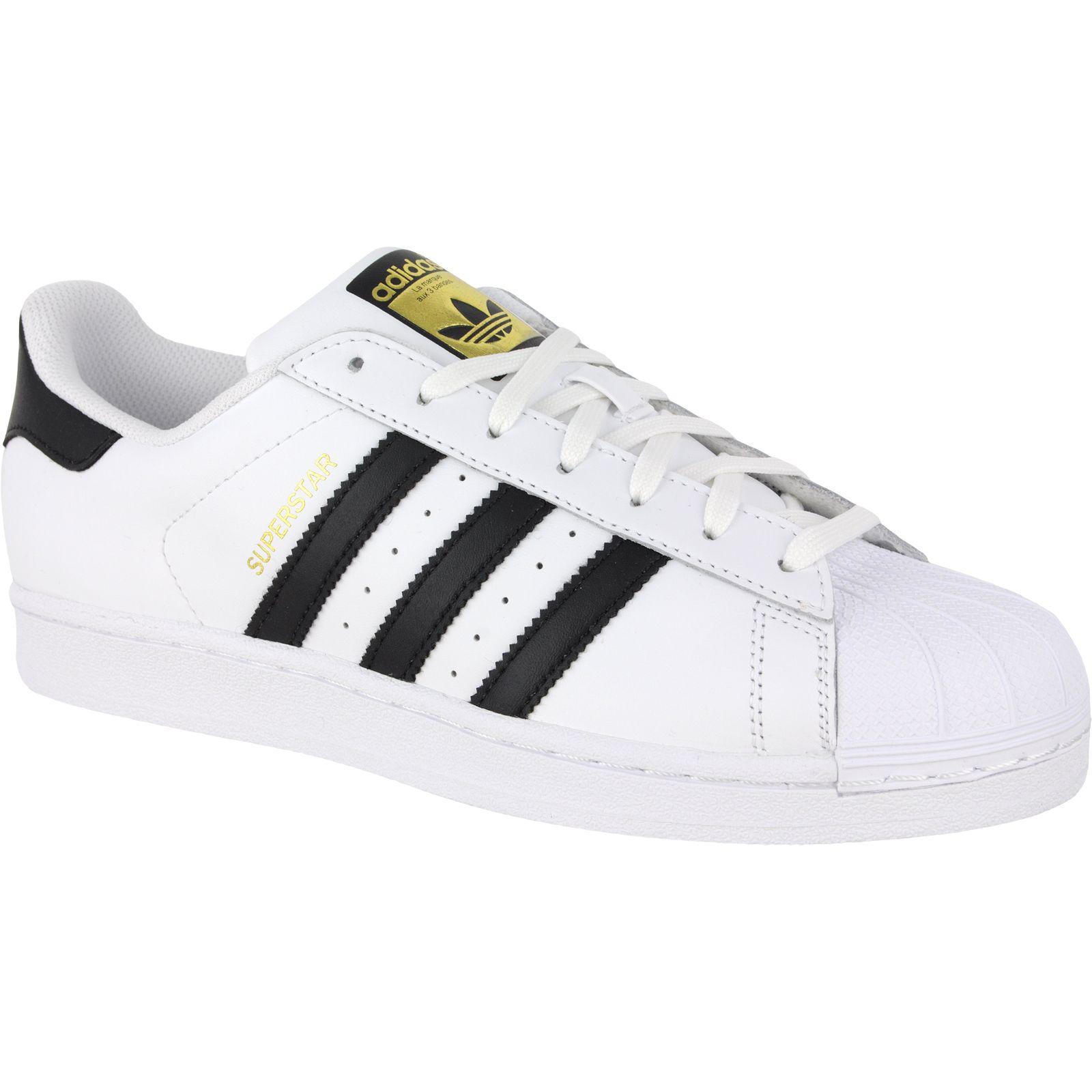 Pantofi sport Adidas Originals Superstar J Blanc Noir C77154B