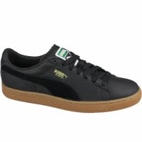 Pantofi sport unisex Puma Basket Classic Gum 36536602, 42 1/2, Negru