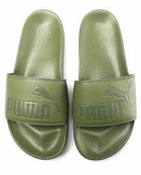 Papuci de piele ecologica cu logo stantat Leadcat Puma, 42 eu
