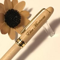 Pix Rosewood pen white wood with gold