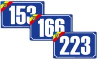 Numere de casa cu tricolor si protectie UV