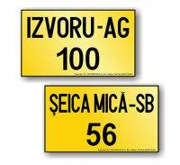 Numere inregistrare vehicule pentru care nu exista obligatia înmatricularii  - model pe doua rânduri