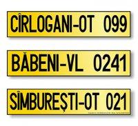 """Numere inregistrare vehicule pentru care nu exista obligatia înmatricularii  - model """"Pe un rând"""""""
