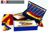 EȘARFĂ tricolor PRIMAR + Casetă specială pt. păstrare
