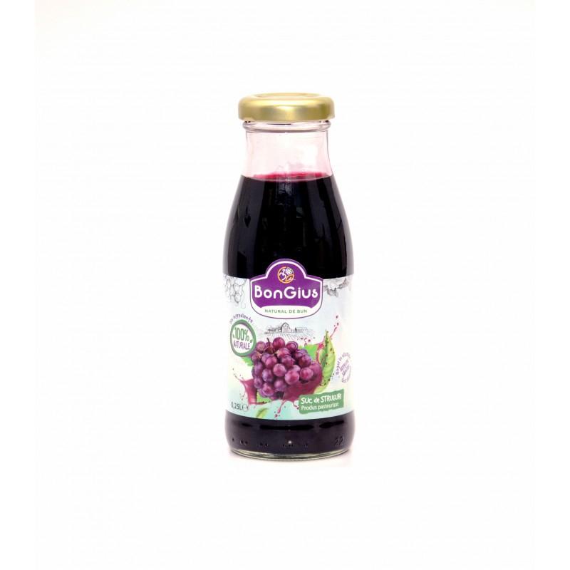 Suc natural struguri rosii 0.25 L
