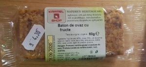 Baton de ovăz cu fructe