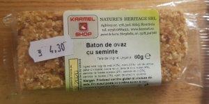 Baton de ovăz cu semințe