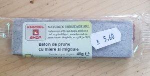 Baton de prune cu miere și migdale