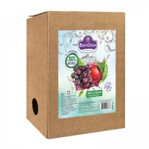 Suc natural mere+struguri roșii 3 L