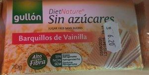 Gallon Napolitane cu aromă de vanilie  fără zahăr 70 g