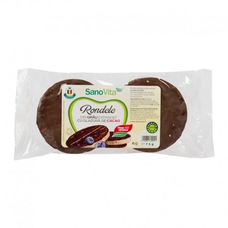 Rondele de grâu cu glazură de cacao 75 g