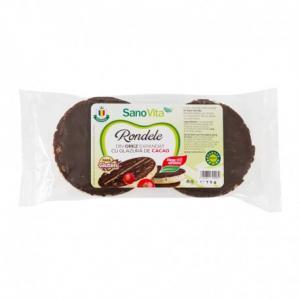 Rondele orez cu glazură de cacao 75 g