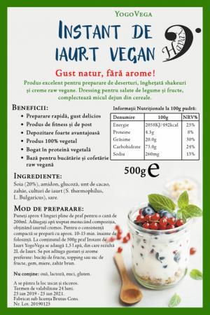 Instant de iaurt vegan 500 g