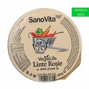 Pastă vegetală linte roșie ardei picant 100 g