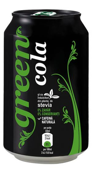 Green Cola doză 330 ml