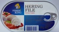 Fisher King - Hering File în sos tomat 170g