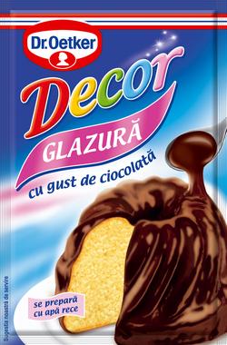 Dr oetker glazură cu gust de ciocolată