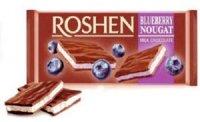 Roshen - Ciocolată cu Lapte și Nuga de Afine 90g