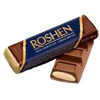 Roshen - Baton de ciocolată cu umplutură din cremă de zahăr ars 43g