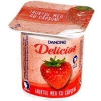 Danone Delicios cu căpșuni 125g