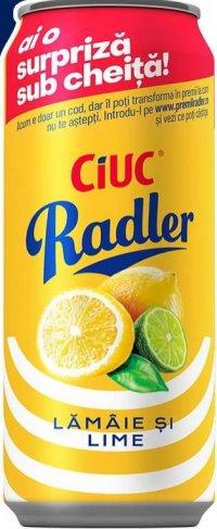 Ciuc Radler - Bere blondă cu gust de lămâie și lime 0,0% Alc. 330 ml