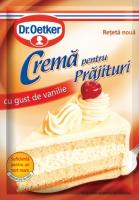 Dr.Oetker - Cremă pentru prăjituri cu gust de vanilie 50g