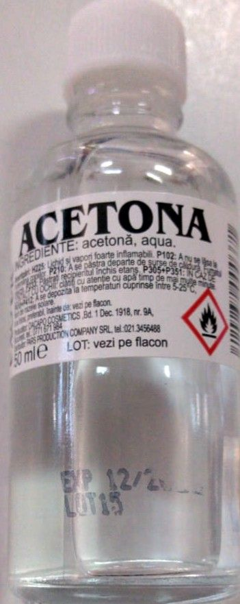 acetona sticla 50ml