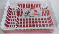 Crilelmar - Scurgător de vase MD2 cu tavă - Alb-Roșu