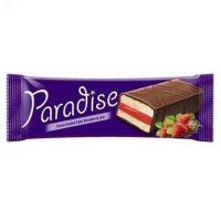 Paradise - Prăjitură glazurată cu cremă de căpșuni 25g